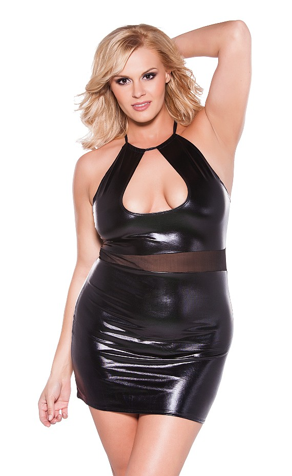 Plus Size Wet Look & Metallic