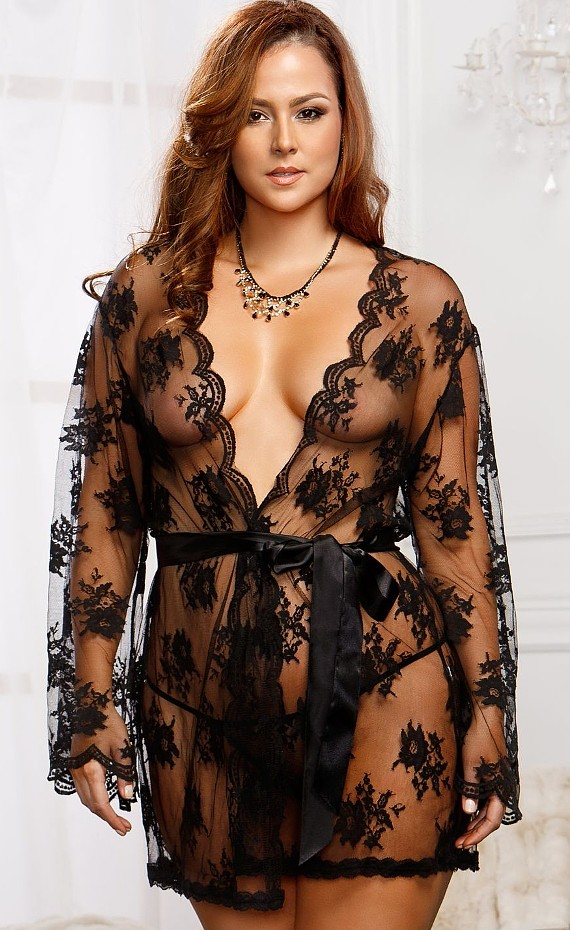 Plus Size Gowns & Robes Lingerie