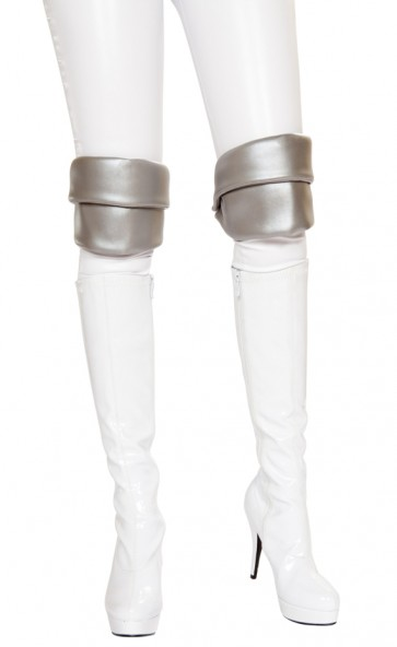 Silver Knee Pads