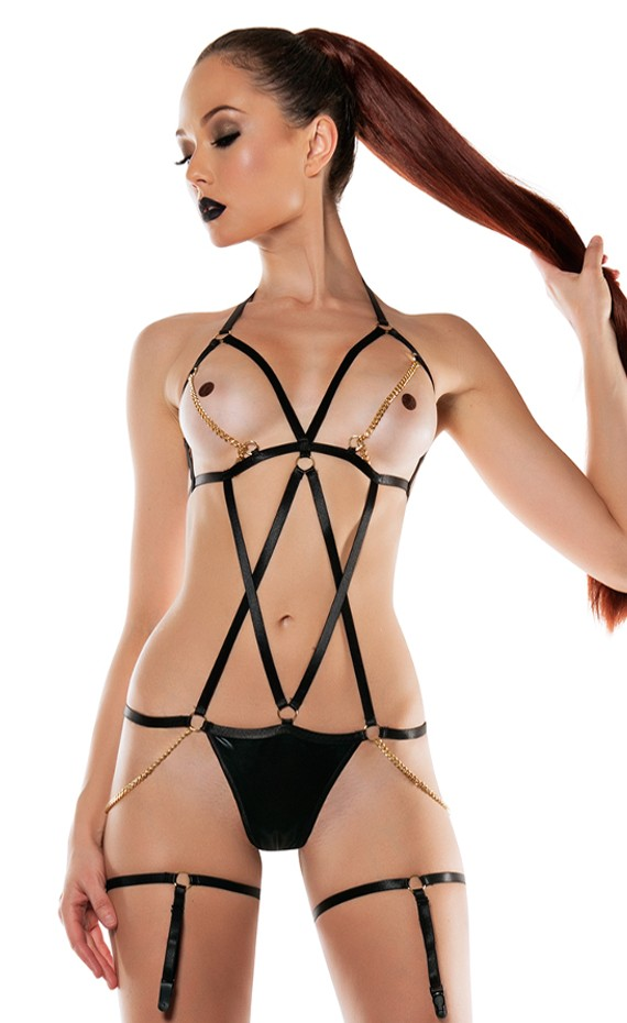 bondage bra harness