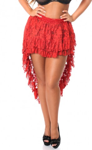 High Low Lace Skirt With Ruffles