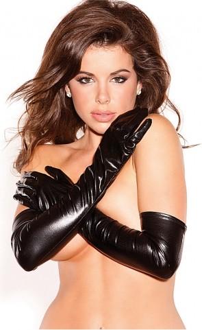 Wet look Long Gloves