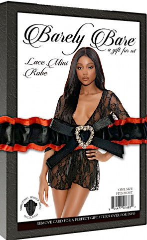 Barely Bare Short Lace Robe