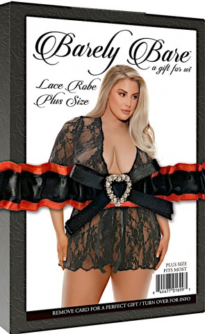Barely Bare Short Lace Robe Plus Size