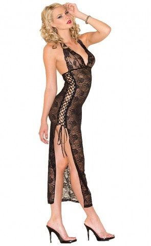 Be Wicked Lace Lingerie Gown