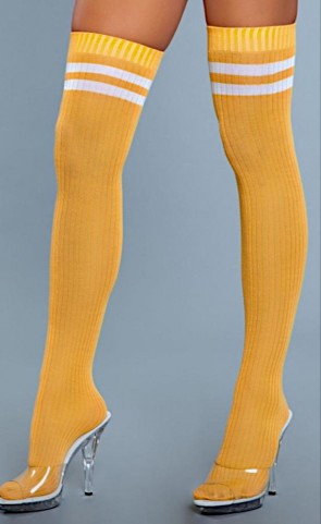 Going Pro Ribbed Athletic Thigh Highs