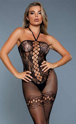 Be With Me Netted Lace Bodystocking