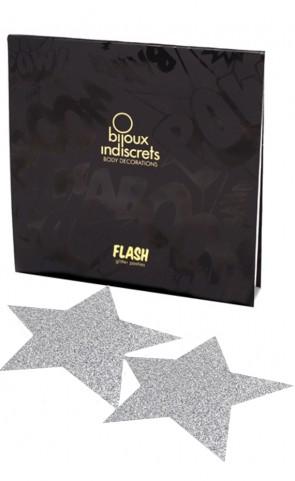 Bijoux Indiscrets Flash Star Pastie - Silver