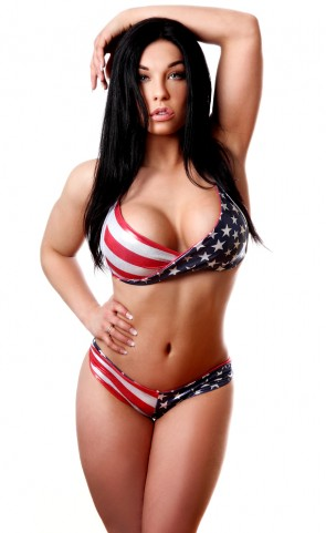 American Pride Twist Bra Top