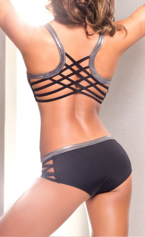 Iron Criss Cross Sports Bra Top