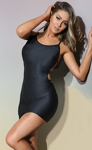 Bold Knit Fitted Reversible Dress