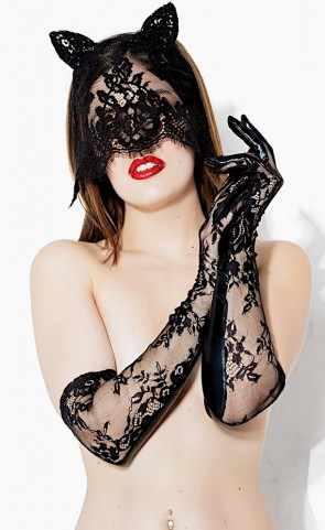 Darque Sex Kitten Mask & Glove Set
