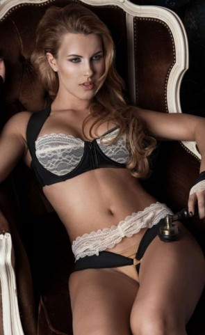 Lace Push Up Bra With Zipper