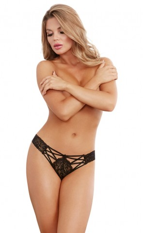 Lace Criss Cross Front Panty