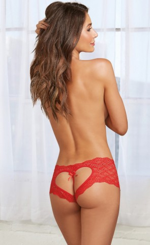 Heart Cut Out Lace Panty