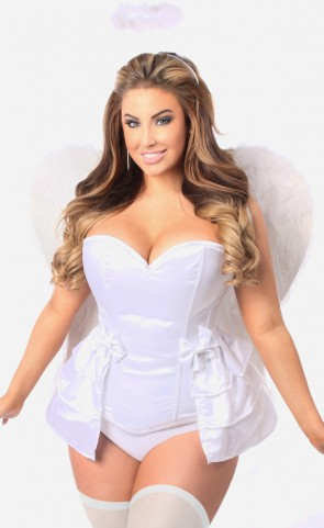 Plus Size Angelic White Corset Costume