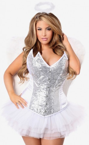Plus Size Heavenly Angel Corset Costume