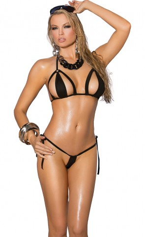 Cut Out Tri Top And G-String