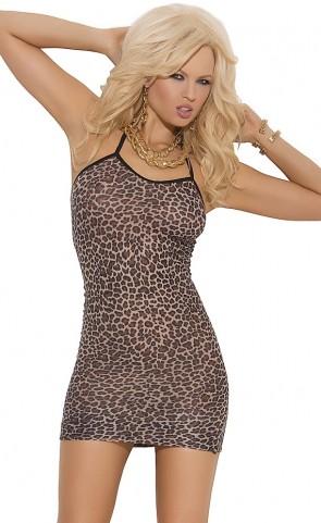 Leopard Print Slip Mini Dress