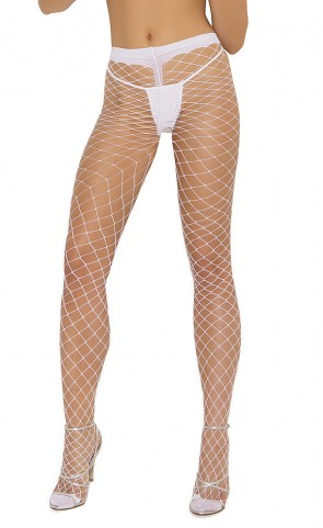 Spandex Diamond Net Pantyhose Plus Size