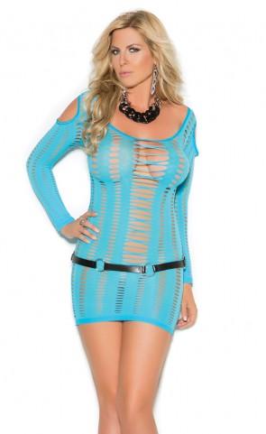 Cold Shoulder Seamless Dress Plus Size