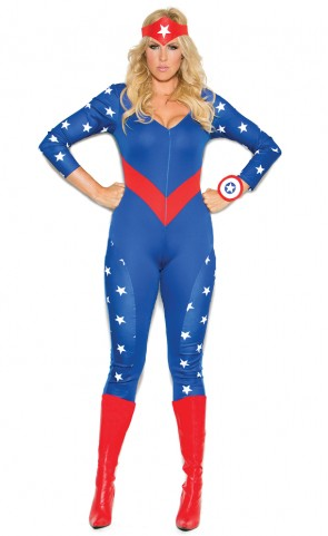 American Hero Costume Plus Size