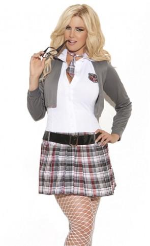 Queen Of Detention School Girl Costume Plus