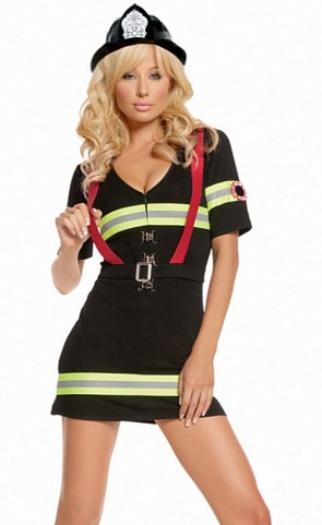 Ms. Blazin Hot Firefighter Costume