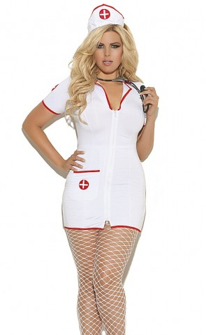 Sexy Head Nurse Costume Plus Size