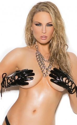 Black Vinyl Gloves
