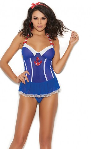 Sexy Sailor Romper Lingerie Costume