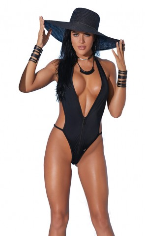 Swimwear Zipper Monokini