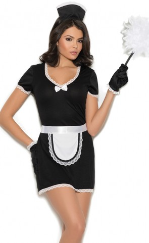 Flirty Maid Costume Costume Plus Size
