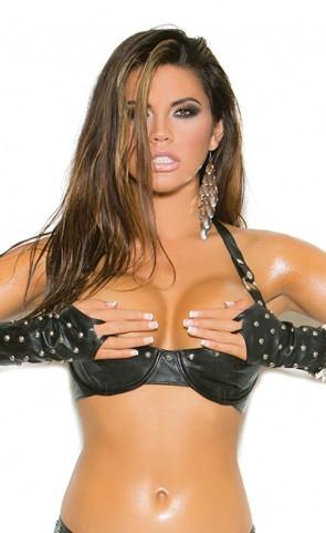 Studded Leather Bra