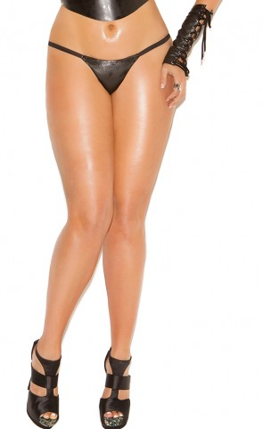 Leather G-String Plus Size