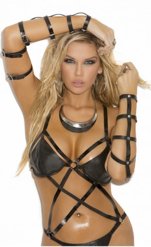 Strappy Leather Arm Guards