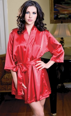 Satin Robe With Sash