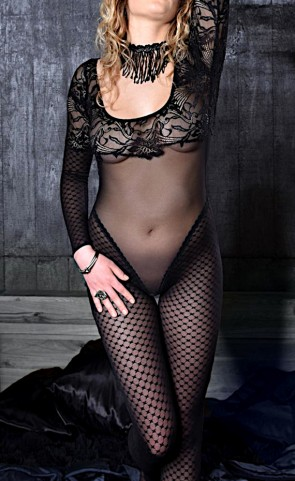 Accentuate Your Curves Lace Bodystocking