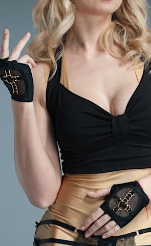 Fingerless Gloves With Rings