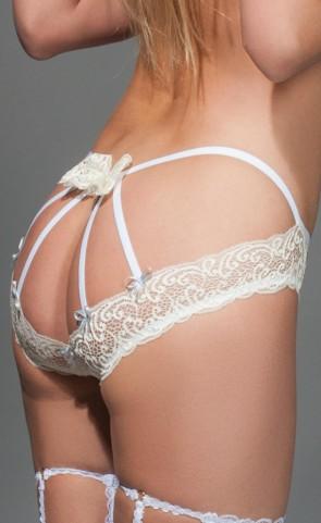 Backless Strappy Lace Panty
