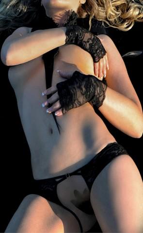 Cross Straps Open Crotch Panties