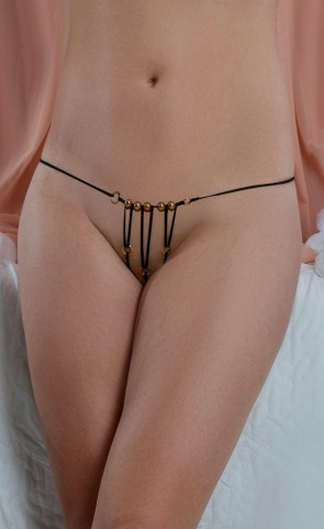 Crotchless Pearl G String