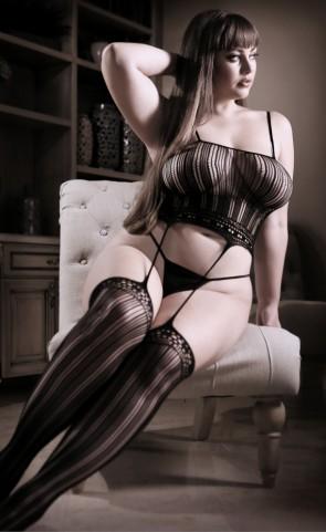 Black Magic Suspender Cami Bodystocking Plus Size