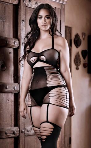 Love Bite Cutout Dress Bodystockig Plus Size