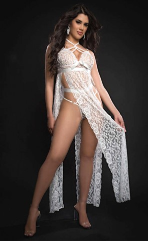 Bridal Strappy Halter Laced Night Gown