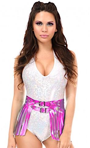 Hologram Fringe Mini Skirt