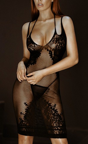 Seamless Lattice Body Con Dress