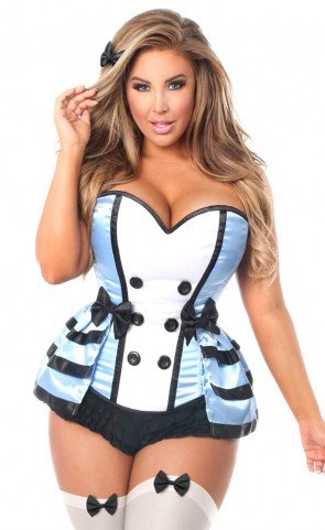 4 Piece Flirty Alice Corset Costume Plus Size