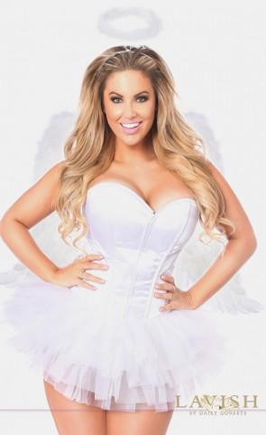 Plus Size Flirty Angel Corset Costume