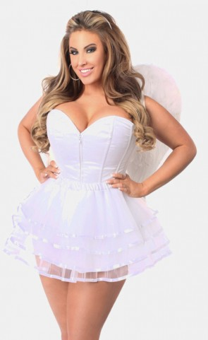 White Angel Corset Costume Plus Size